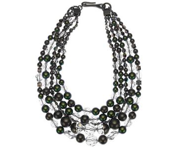 Swarovski Swarovski Just Iris Detachable Necklace, Ruthenium Plating Gray Rhodium-plated