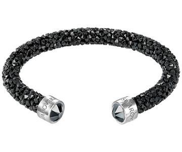 Swarovski Swarovski Crystaldust Cuff, Black, Stainless Steel Black Stainless Steel