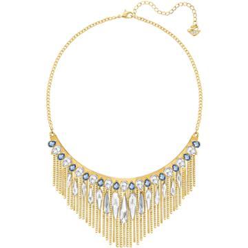 Swarovski Gipsy Necklace, Large, Blue, Rose Gold Plating