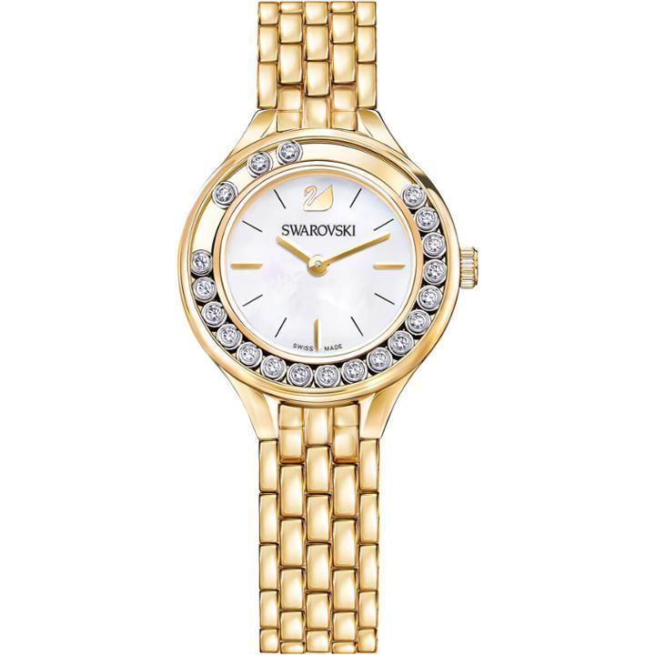 Swarovski Lovely Crystals Mini Watch, Metal Bracelet, Gold Tone
