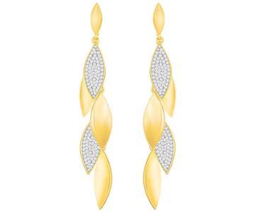Swarovski Swarovski Grape Long Pierced Earrings, White White Gold-plated