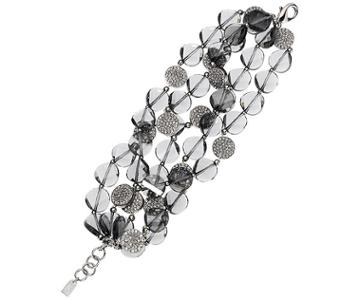Swarovski Swarovski Just Iris Bracelet, Palladium Plating Gray Rhodium-plated