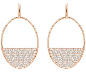 Swarovski Swarovski Ginger Pierced Earrings, White, Rose Gold Plating White Rose Gold-plated