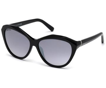 Swarovski Swarovski Swarovski Sunglasses, Sk0136 01c, Black