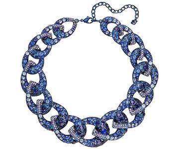 Swarovski Swarovski Tabloid Necklace, Multi-colored, Blue Pvd Plating Dark Multi