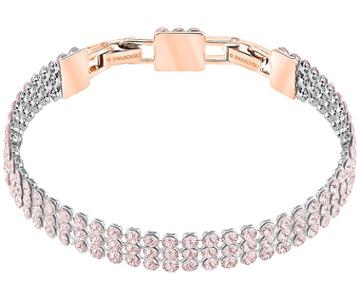 Swarovski Swarovski Fit Bracelet, Pink, Rose Gold Plating Pink Rose Gold-plated