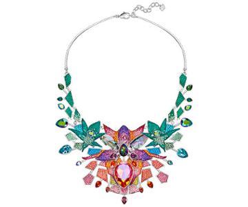 Swarovski Swarovski Lively Sparkle Necklace, Multi-colored, Rhodium Plating Dark Multi Rhodium-plated