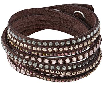 Swarovski Swarovski Slake Brown Deluxe Bracelet Dark Multi Gold-plated