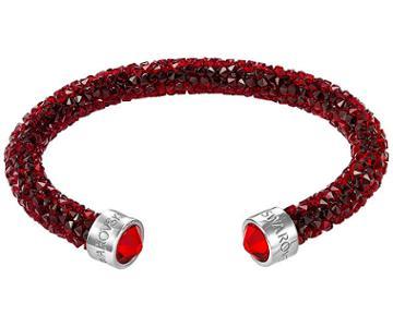 Swarovski Swarovski Crystaldust Cuff, Red, Stainless Steel Red Stainless Steel