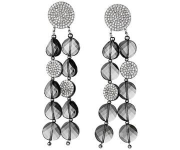 Swarovski Swarovski Just Iris Clip Earrings, Palladium Plating Gray Rhodium-plated