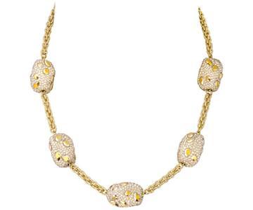 Swarovski Swarovski Atelier Swarovski Core Collection, Moselle Beaded All-around Necklace Brown Gold-plated