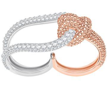 Swarovski Swarovski Lifelong Double Ring, White, Mixed Plating White