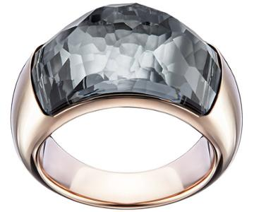 Swarovski Swarovski Dome Ring Gray Rose Gold-plated