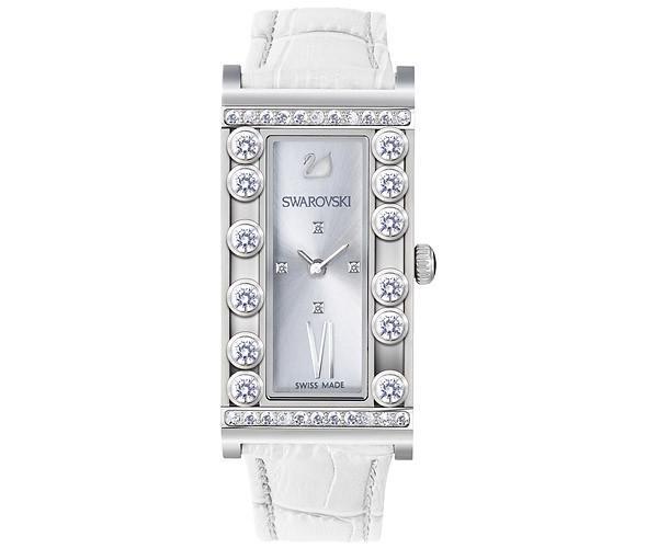 Swarovski Swarovski Lovely Crystals Square White Watch  Stainless Steel