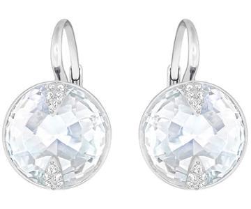 Swarovski Swarovski Globe Pierced Earrings, White White Rhodium-plated