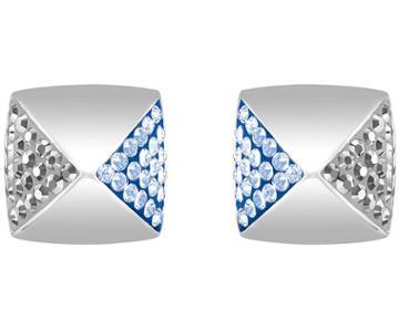Swarovski Swarovski Glance Stud Pierced Earrings, Multi-colored, Rhodium Plating Blue Rhodium-plated