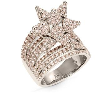 Swarovski Swarovski Kalix Wide Ring, Palladium Plating Pink Rhodium-plated