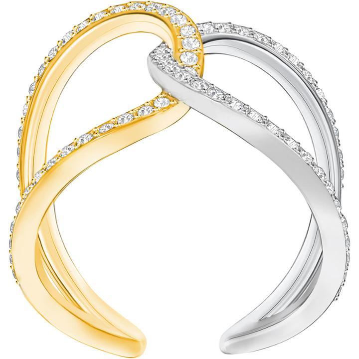 Swarovski Humming Ring, White, Mixed Plating