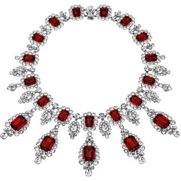 Swarovski Anna Dello Russo Necklace, Red, Palladium Plating