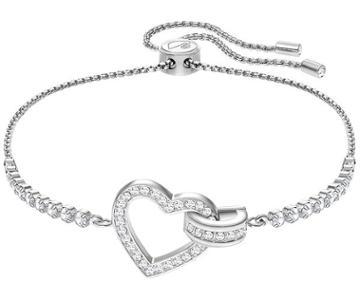Swarovski Swarovski Lovely Bracelet, White, Rhodium Plating White Rhodium-plated