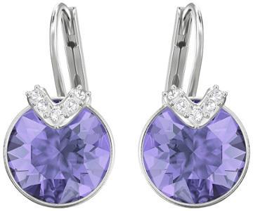 Swarovski Swarovski Bella V Pierced Earrings, Violet, Rhodium Plating Violet Rhodium-plated