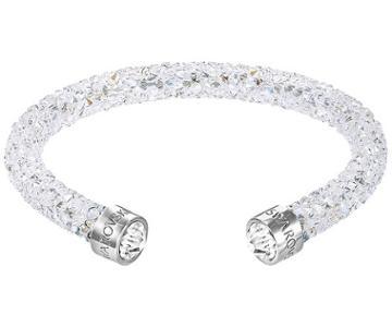 Swarovski Swarovski Crystaldust Cuff, White, Stainless Steel White Stainless Steel