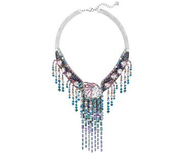 Swarovski Swarovski High Class Necklace, Multi-colored, Ruthenium Plating Dark Multi Rhodium-plated