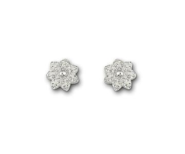 Swarovski Swarovski Liddy Pierced Earrings White Rhodium-plated