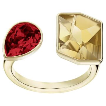 Swarovski Prisma Ring, Multi-colored, Gold Plating