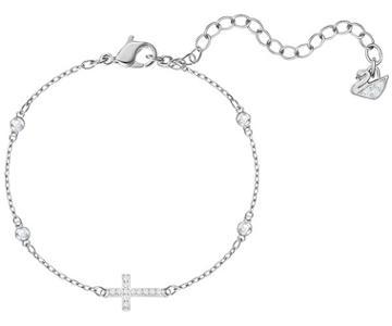 Swarovski Swarovski Mini Cross Bracelet, White, Rhodium Plating White Rhodium-plated