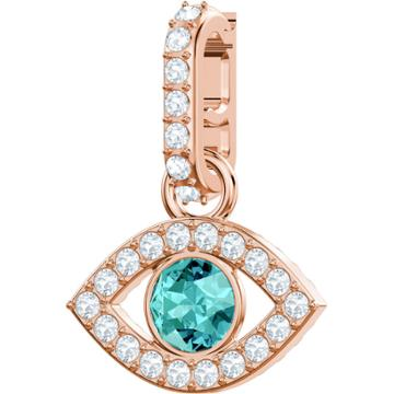 Swarovski Swarovski Remix Collection Charm, Evil Eye, Multi-colored, Rose Gold Plating