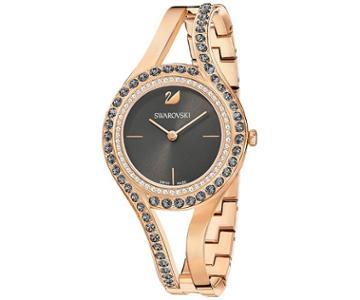 Swarovski Swarovski Eternal Watch, Metal Bracelet, Dark Gray, Rose Gold Tone White Rose Gold-plated