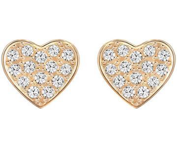 Swarovski Swarovski Cupid Pierced Earrings, White, Rose Gold Plating White Rose Gold-plated
