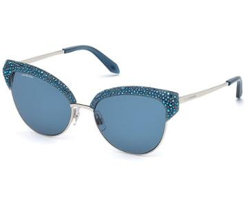 Swarovski Swarovski Moselle Cat Eye Sunglasses, Sk164-p 90x, Opal Blue