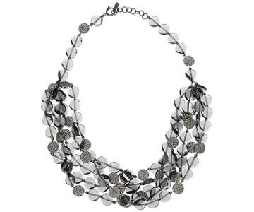 Swarovski Swarovski Just Iris Necklace, Palladium Plating Gray Rhodium-plated