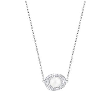 Swarovski Swarovski Elaborate Pendant, White White Rhodium-plated