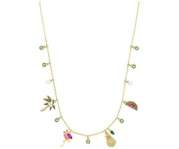 Swarovski Swarovski Lime Charms Necklace, Multi-colored, Gold Plating Light Multi Gold-plated