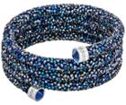 Swarovski Swarovski Crystaldust Wide Bangle, Blue Blue Stainless Steel