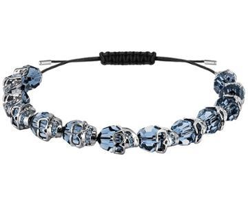 Swarovski Swarovski Taddeo Bracelet, Blue, Ruthenium Plating Teal Rhodium-plated