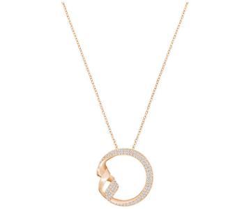 Swarovski Swarovski Ss Graceful Necklace  Rose Gold-plated