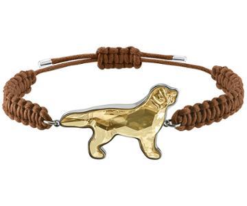 Swarovski Swarovski Pets Retriever Bracelet, Golden, Rhodium Plating Brown Rhodium-plated