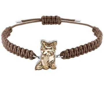 Swarovski Swarovski Pets Yorkshire Bracelet, Golden, Rhodium Plating White Rhodium-plated