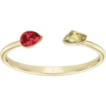 Swarovski Prisma Bangle, Multi-colored, Gold Plating