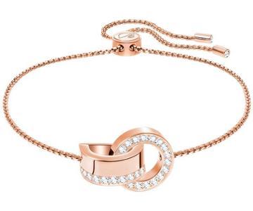Swarovski Swarovski Hollow Bracelet, White, Rose Gold Plating White Rose Gold-plated