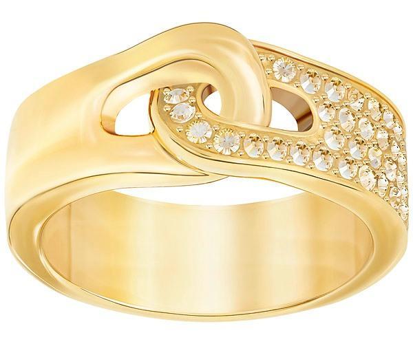 Swarovski Swarovski Gallon Ring, Golden, Gold Plating Brown Gold-plated