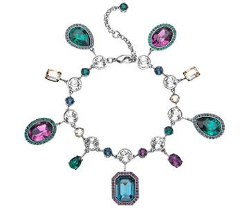 Swarovski Swarovski Tabitha Simmons Bracelet, Multi-colored, Ruthenium Plating Teal Rhodium-plated