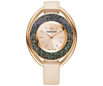 Swarovski Swarovski Crystalline Oval Watch, Beige Pink Rose Gold-plated