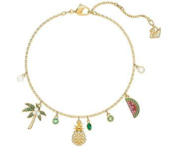 Swarovski Swarovski Lime Bracelet, Multi-colored, Gold Plating Light Multi Gold-plated