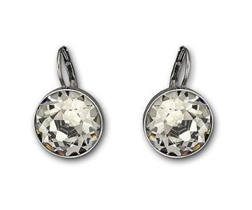 Swarovski Swarovski Bella Pierced Earrings, Gray, Ruthenium Plating Gray Rhodium-plated