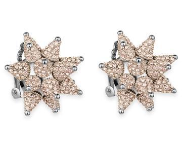 Swarovski Swarovski Kalix Clip Earrings, Palladium Plating Pink Rhodium-plated
